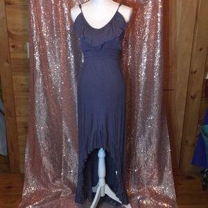Express high-low ruffled maxi dress!